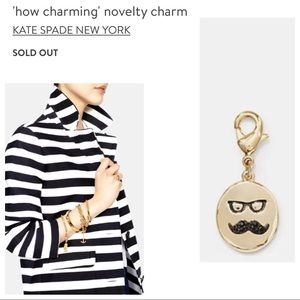 kate spade how charming mustache charm